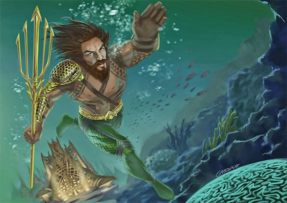 aquaman digital painting