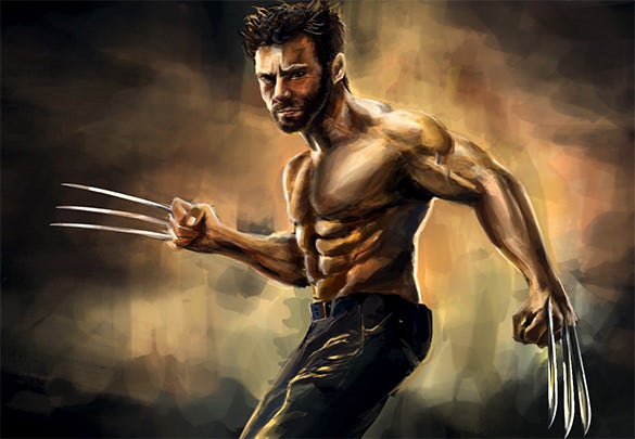 the wolverine digital painting