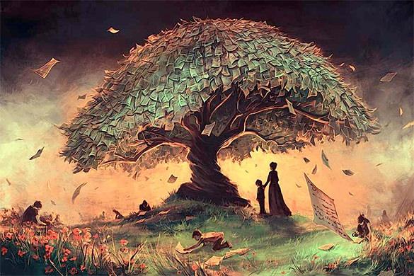 money tree digital art design