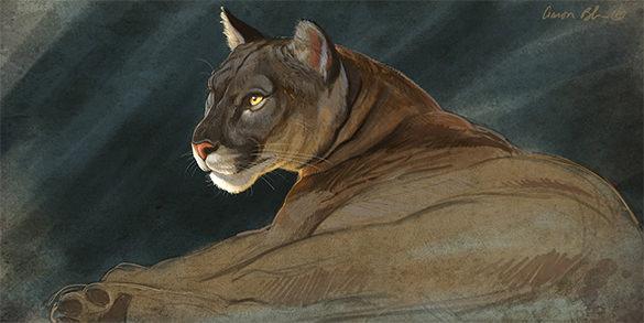 lion digital painting