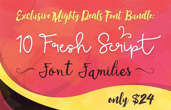 Fantastic-Fresh-Script-Font-Families