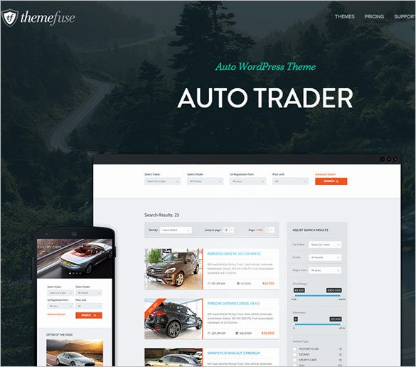 online vehicle marketplace wordpress portfolio