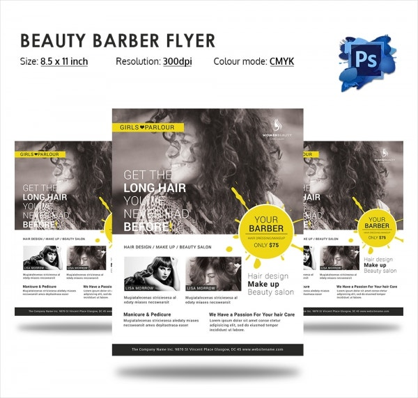 Creative Barber Flyer Template