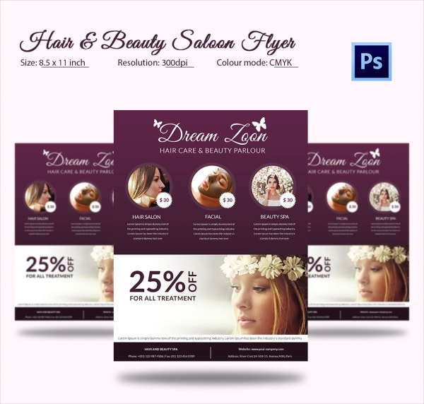 66+ Beauty Salon Flyer Templates - Free PSD, EPS, AI, Illustrator ...