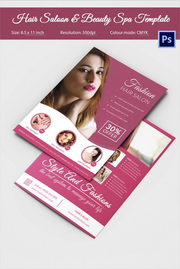 Hair Salon Fashion Style Services Wide Flyer