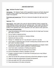 Substitute-Teacher-Job-Description-for-Preschool-Free-PDF