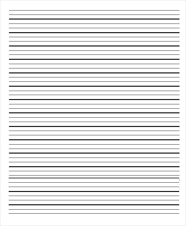 Lined Notebook Paper Template  Download Lined Paper
