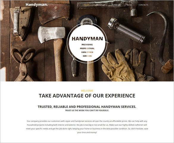 wordpress portfolio theme for household tools