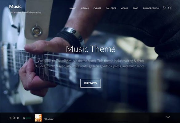wordpress portfolio theme for music albums
