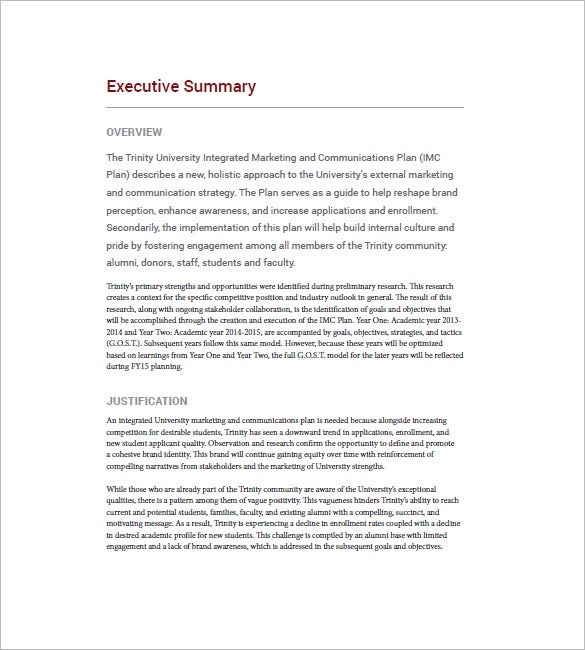 executive summary on business communication The content of the presentation is usually limited to the executive summary and a few key  to a particular business and therefore a secret business plan is.