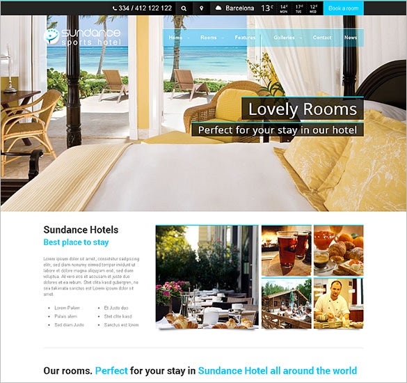 top hotel wordpress theme