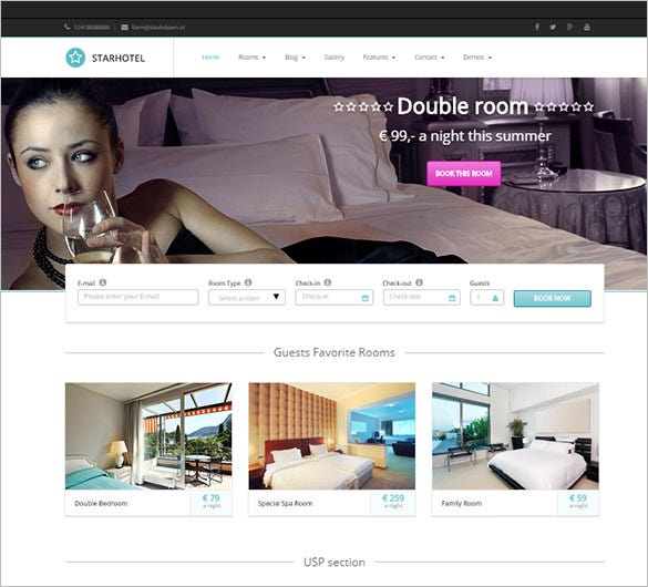 fabulous hotel wordpress theme
