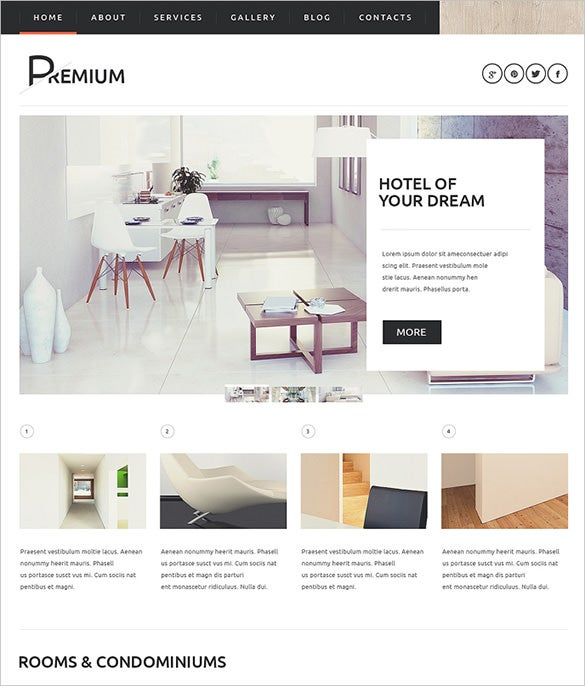 luxurious hotel wordpress theme
