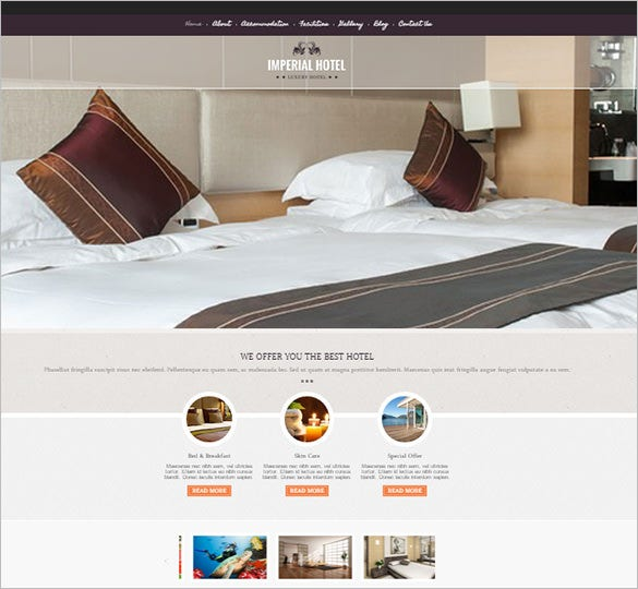 flawless hotel wordpress theme