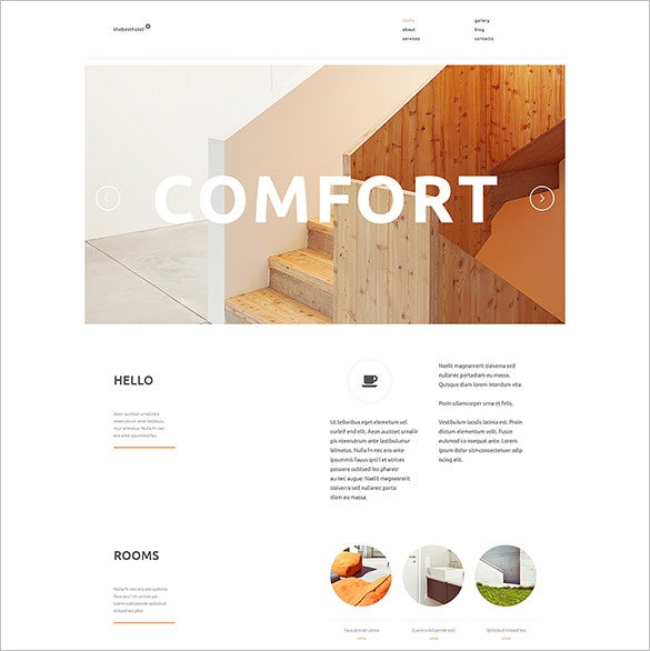 impressive hotel wordpress theme