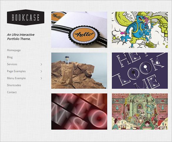 uniquely interactive wordpress portfolio theme