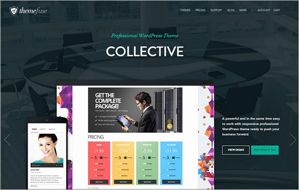 collective wordpress portfolio theme
