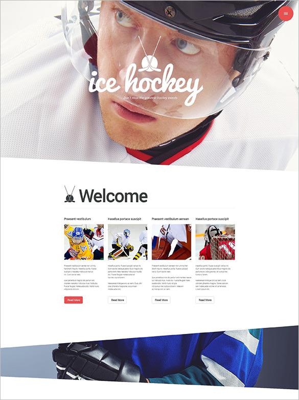 ice hockey wordpress portfolio theme