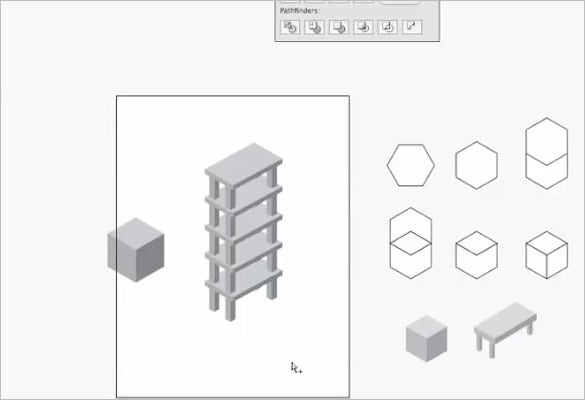 Isometric Cube Illustrator CS4