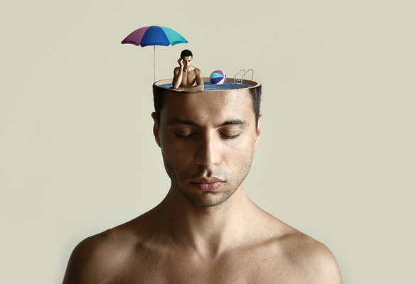 men on head digital art photography