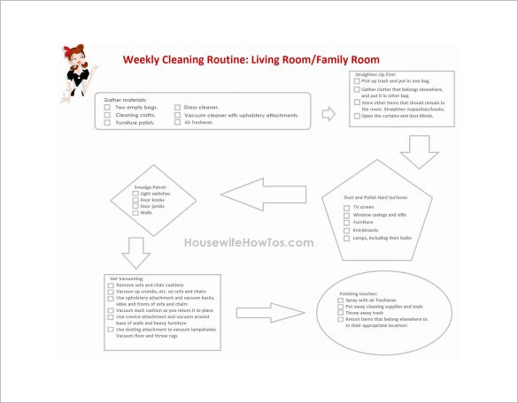 house cleaning weekly weekly chore chart free pdf