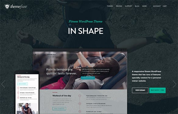 fitness professional wordpress theme