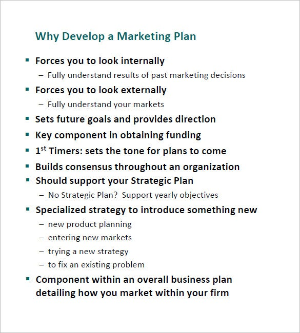 7 annual marketing plan templates doc pdf free