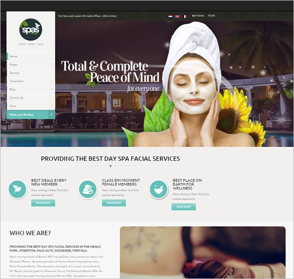 beauty health professional wordpress theme
