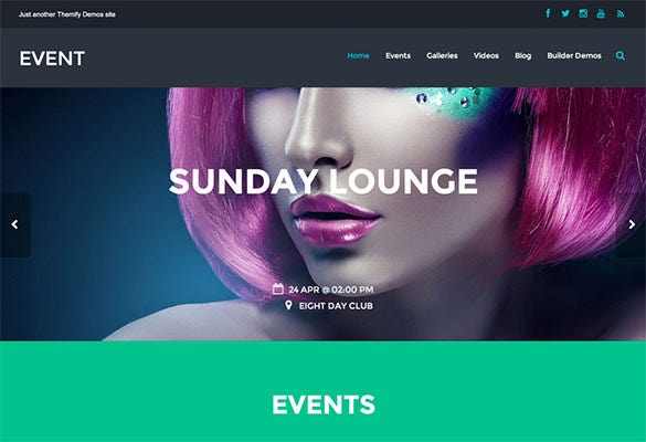 professional wordpress theme for event