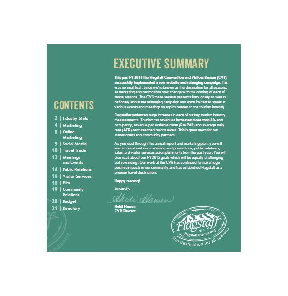 8  annual marketing plan templates