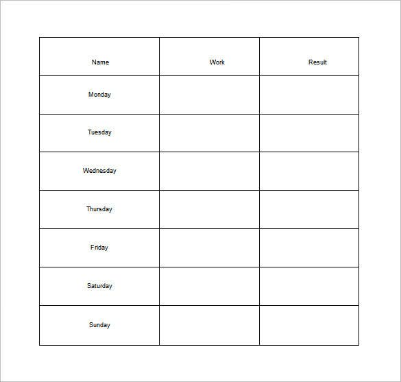 photograph relating to Chore Chart for Adults Printable Free titled 11+ Pattern Weekly Chore Chart Template - Absolutely free Pattern