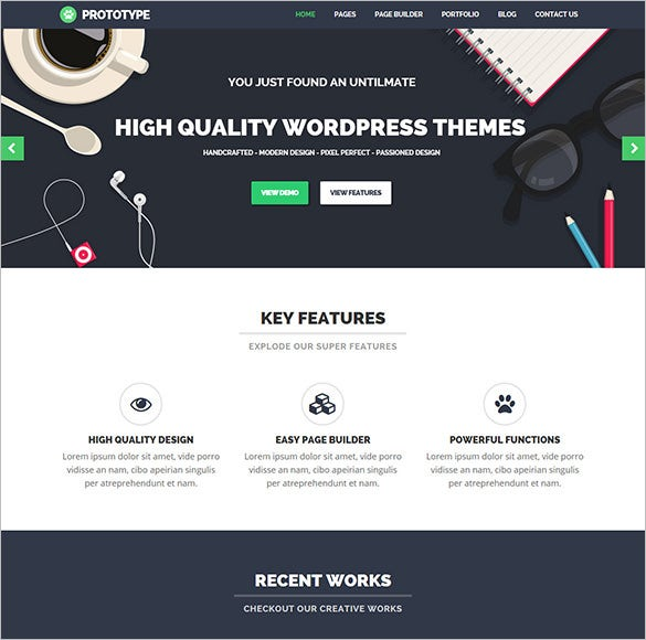 premium flat wordpress theme