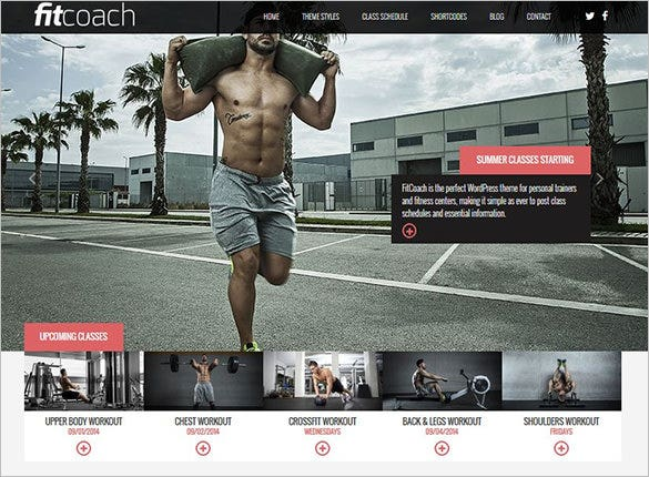 fit coach free wordpress theme