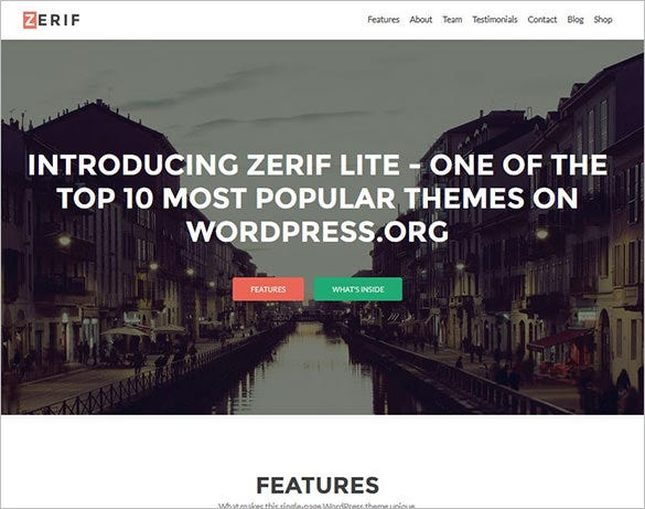 free one page responsive wordpress theme