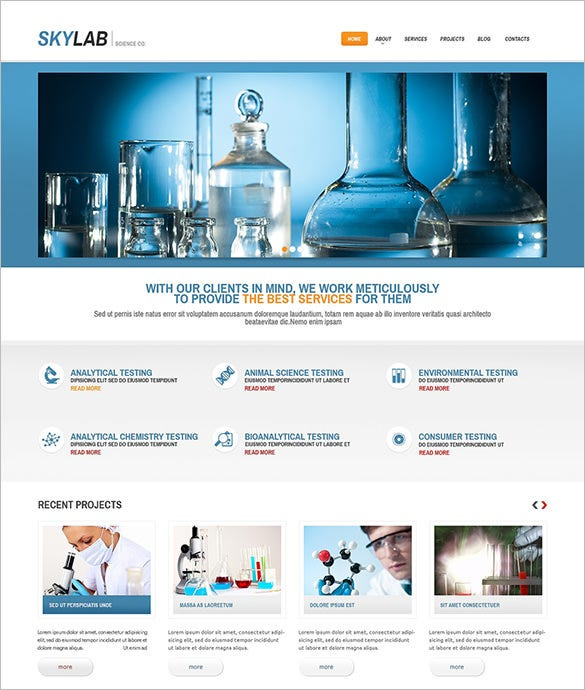 multipurpose chem lab wordpress theme