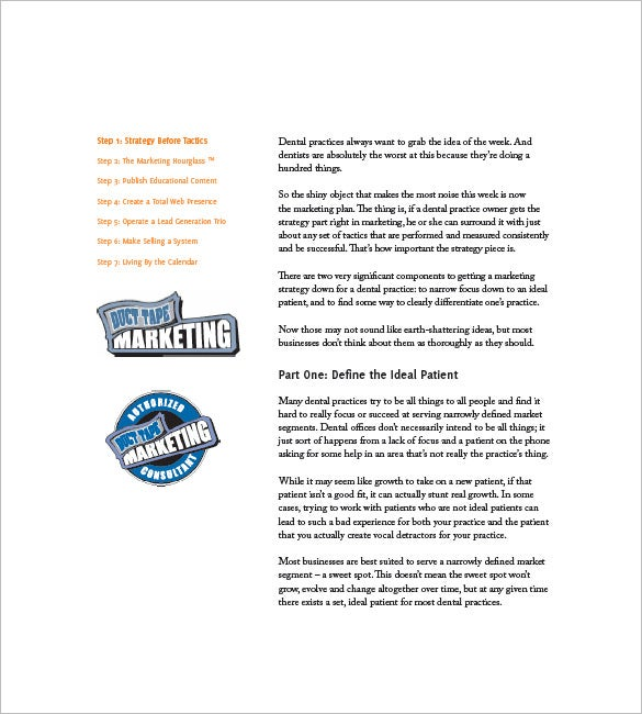 Dental Marketing Plan Template – 10+ Free Word, Excel, PDF Format ...