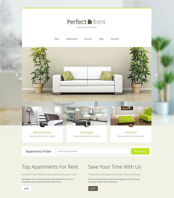 perfect rent real estate wordpress theme