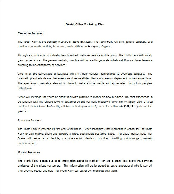 Dental Marketing Plan Template – 10+ Free Sample, Example, Format