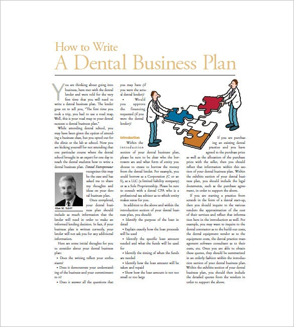 how to write dental marketing plan template