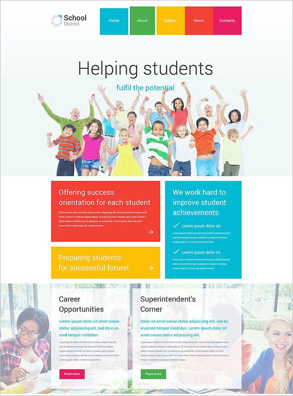 school district education wordpress theme