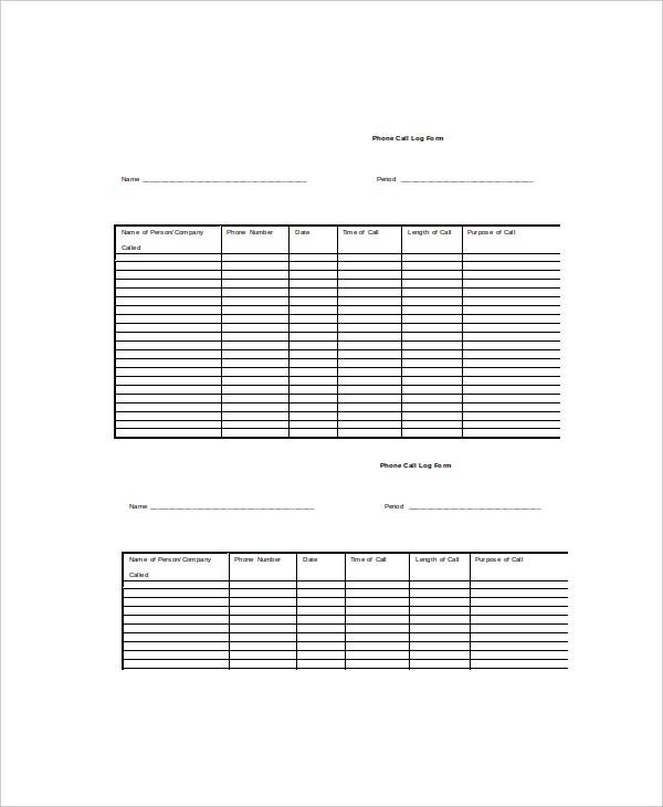 Log Template - 10+ Free Word, Excel, Pdf Documents Download | Free