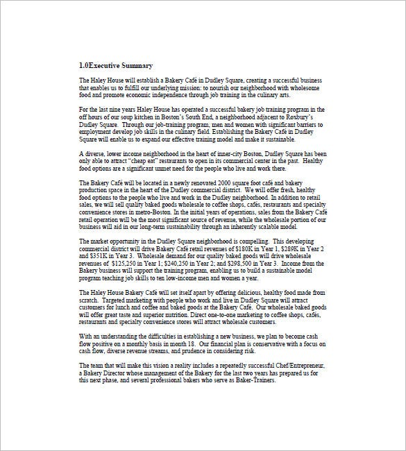 free executive summary template – Free Executive Summary Template