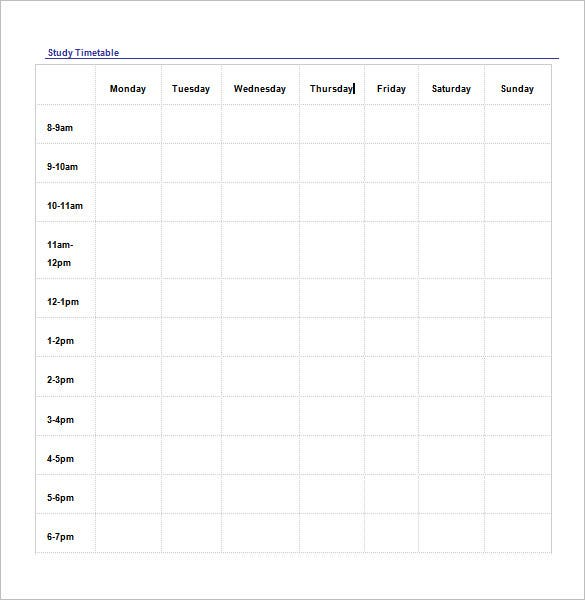 weekly schedule template  u2013 12  free word  excel  pdf