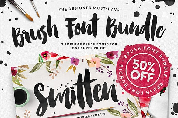 50%-Off-On-The-Brush-Font-Bundle