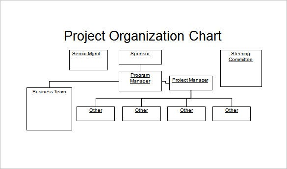 Project Organization PowerPoint Chart Sample Download  Organizational Flow Chart Template Word