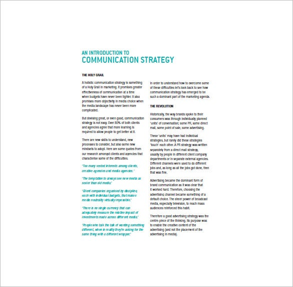 contoh marketing communication plan