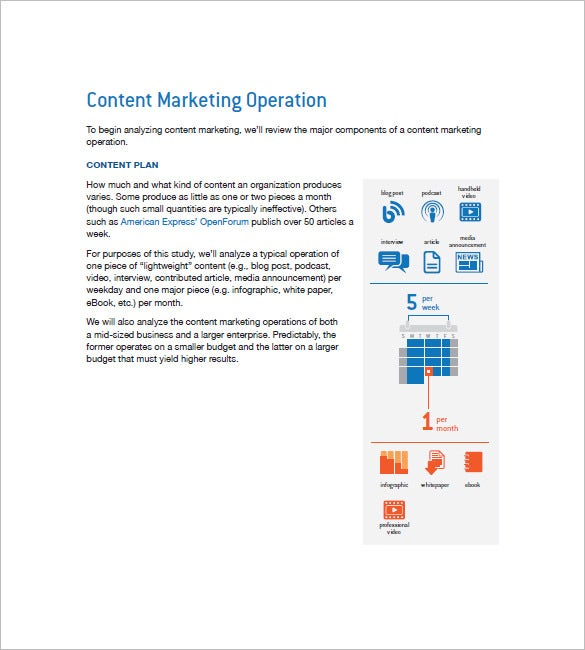 content marketing plan outline