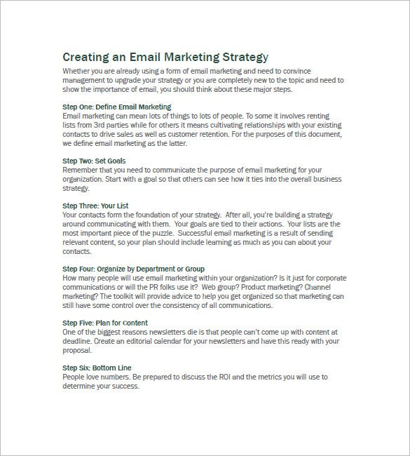 b2b email marketing plan