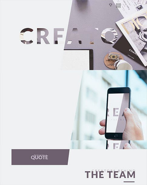 modern and creative wordpress theme