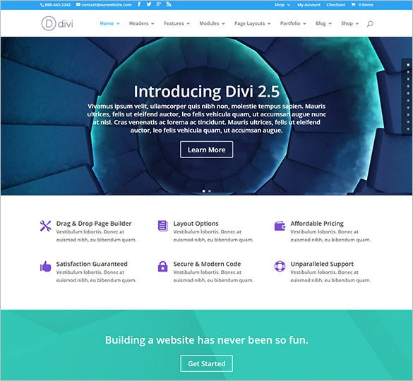 latest modern and creative wordpress theme